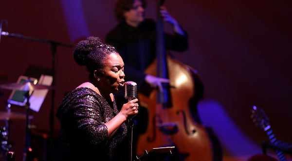 Dee-Dee Darby Duffin singing at Grand Theatre.
